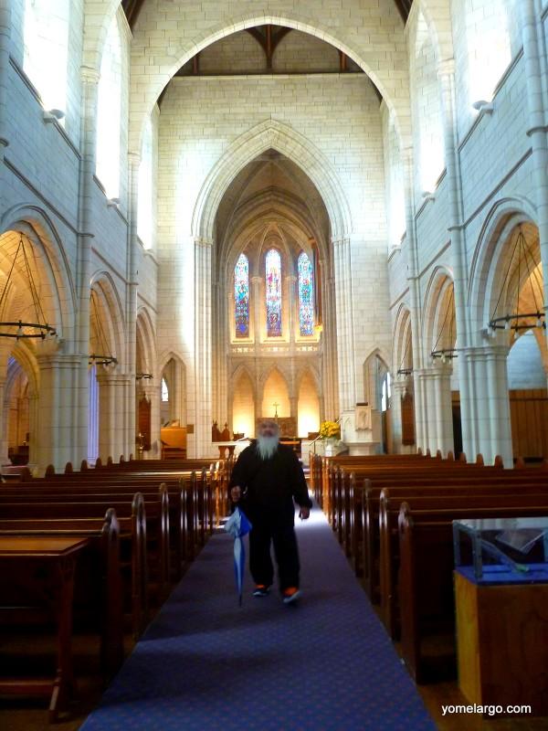 Un maorí y yo nos encontramos en esta iglesia