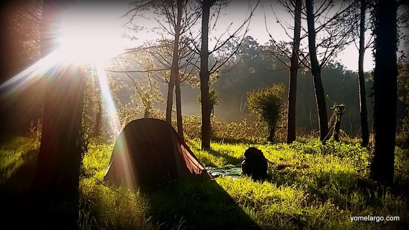 Amanece tras la última acampada de yomelargo