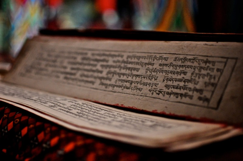 Las escrituras sagradas en 'tarjeta'